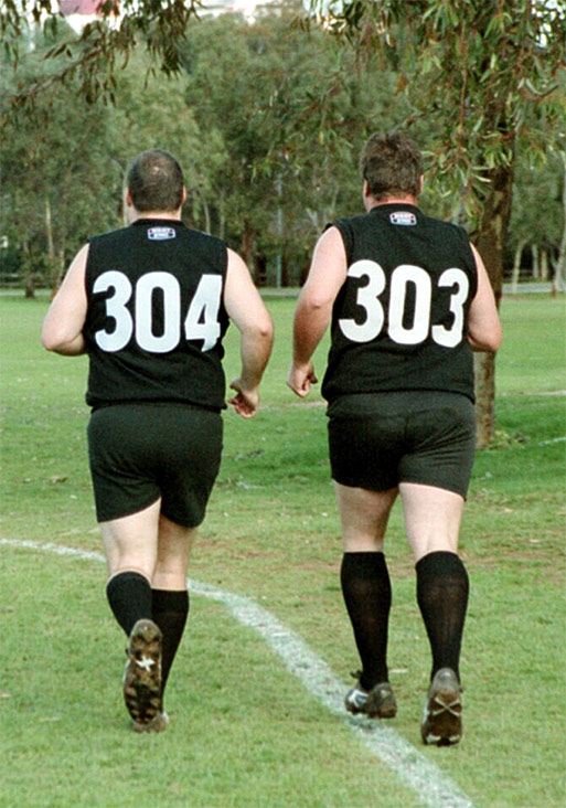 Peter Sinclair (left), Andrew Kretschmer (right) - AUFC Men's