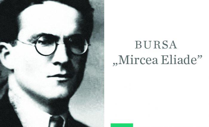 Imagine Mircea Eliade și siglă ICUB