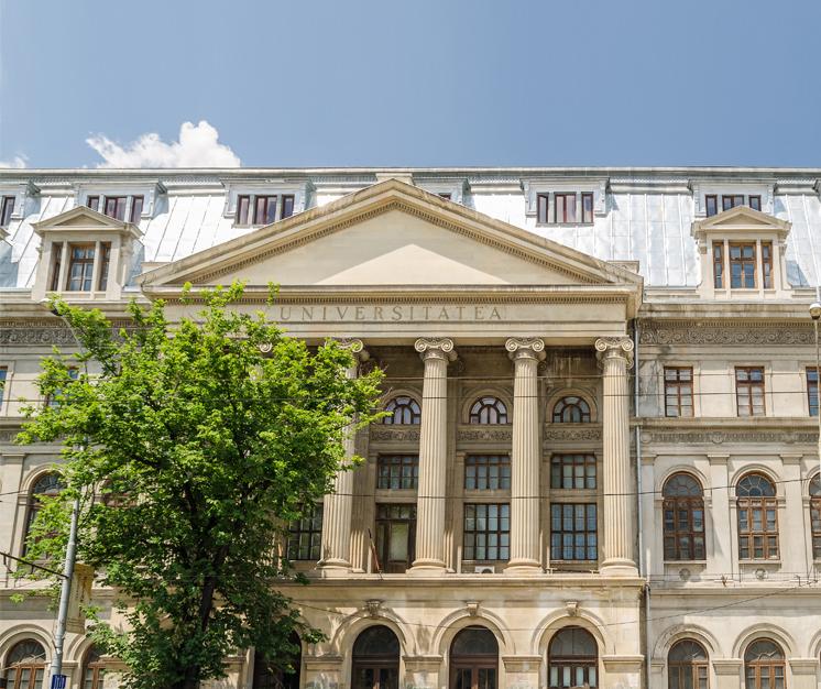 palatul universității din bucurești din centrul orașului
