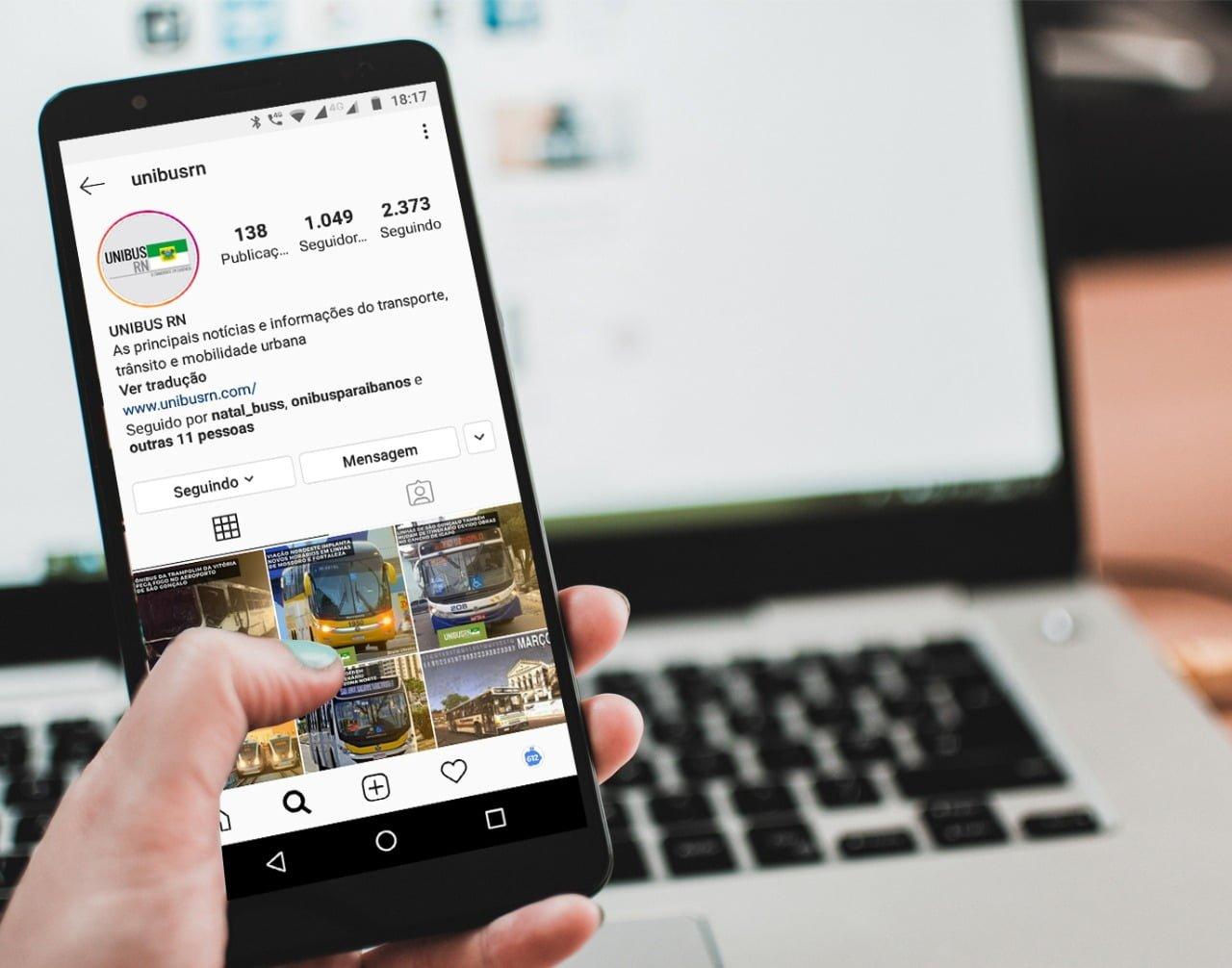 UNIBUS RN alcança 1 mil seguidores no Instagram