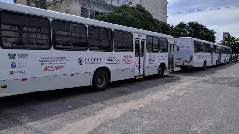 Campanha Busão Solidário, lançado pelo SETURN, segue arrecadando donativos em Natal