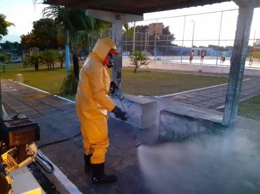 Natal: Prefeitura prossegue trabalho de desinfecção nas paradas e terminais de ônibus