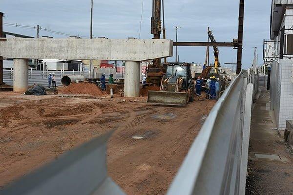 Natal: Viaduto do Gancho de Igapó tem 30% da obra concluída