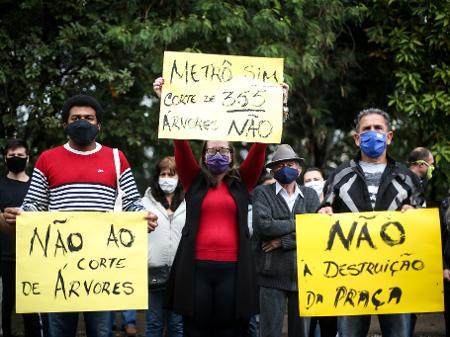 Protesto 'verde' adia obra do metrô em SP