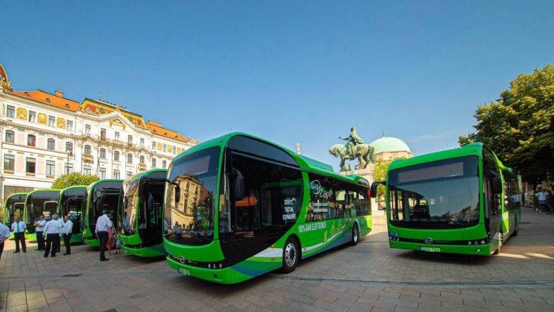 BYD entrega frota de ônibus elétricos na Hungria