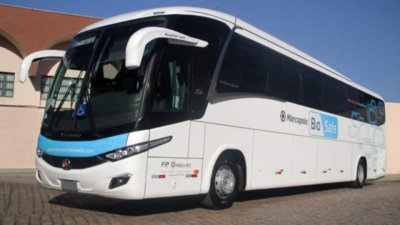Marcopolo percorre país para apresentar ônibus com pacote BioSafe contra a Covid-19