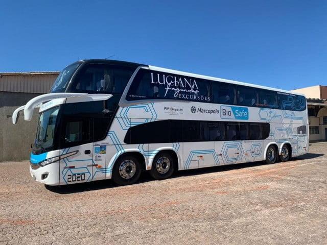 Paraná recebe o primeiro ônibus de dois andares do Brasil com soluções Marcopolo Biosafe