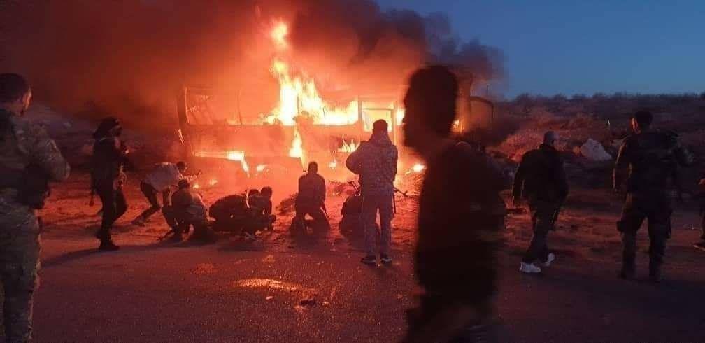Síria: Ataque a ônibus deixa 25 mortos e 13 feridos