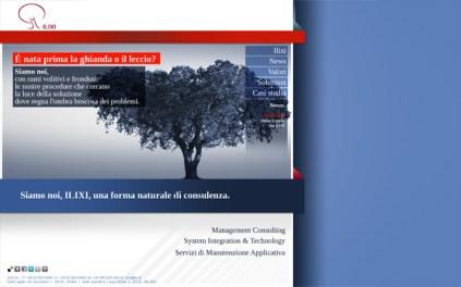 Ilixi sito web home page terza proposta