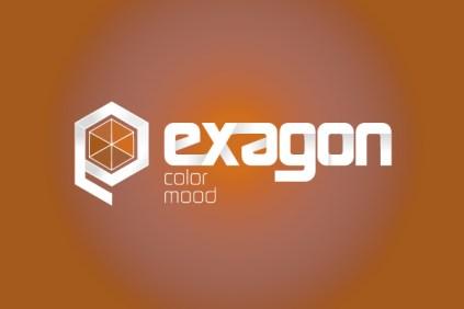 Exagon Logo Color Mood su sfondo colorato