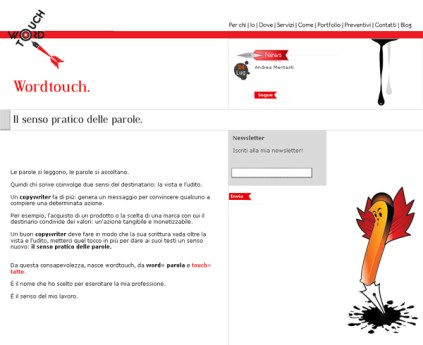 Word touch sito web