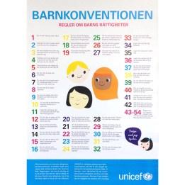 Affisch Barnkonventionen - UNICEF