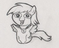 Chibi Rainbow Dash with a medal