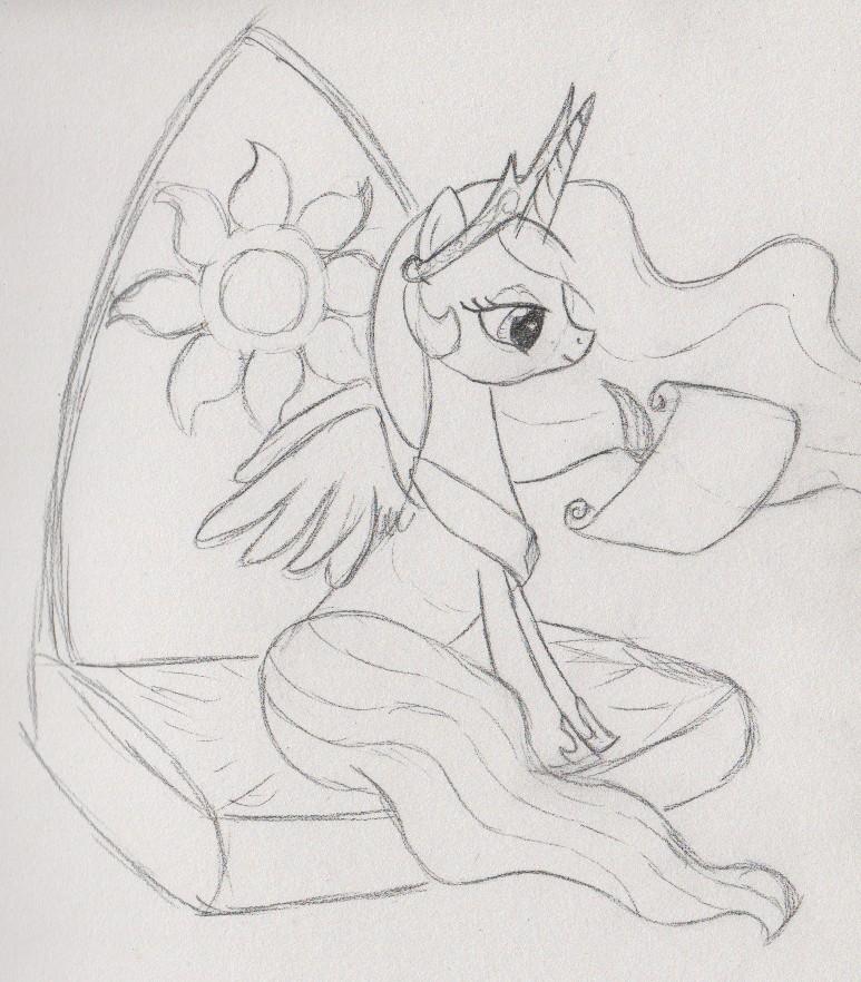 Drawing Princess Celestia's sun cutie mark is hard. The