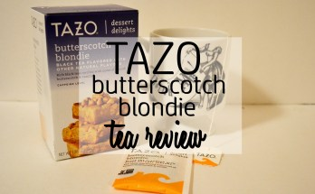 Tazo Butterscotch Blondie Tea Review