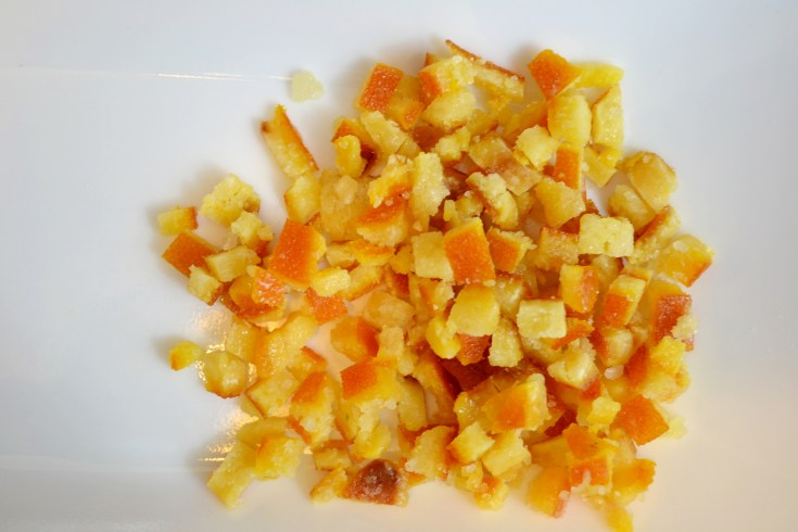 Diced Candied Orange Peel   Cranberry Orange Hot Cross Buns