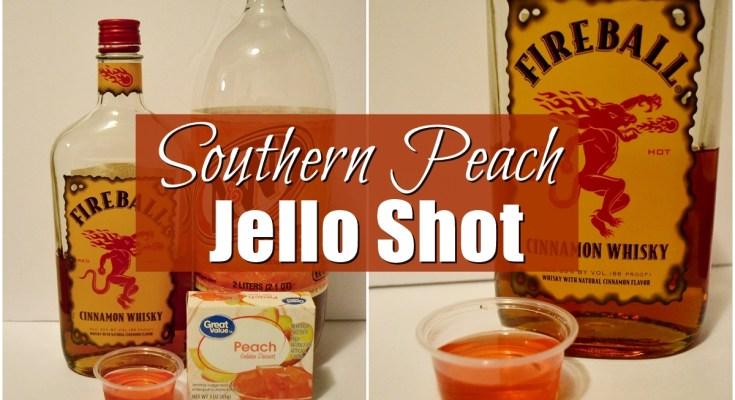 Southern Peach Jello Shot | Unicorn Hideout