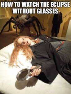 Eclipse meme Hermione petrified
