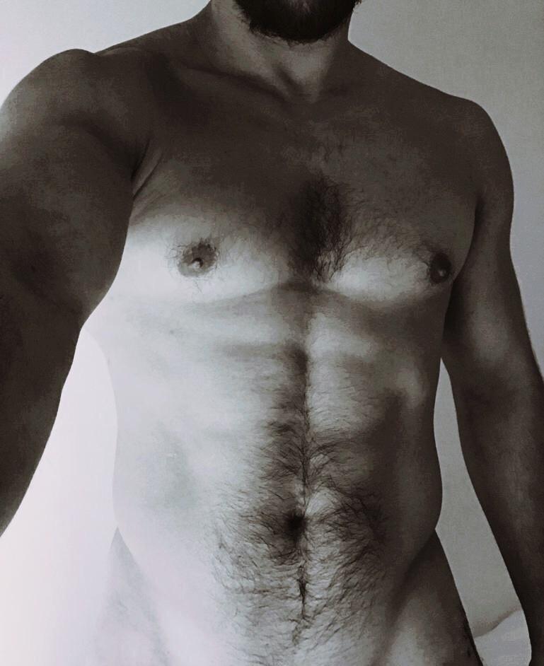 A muscular male torso