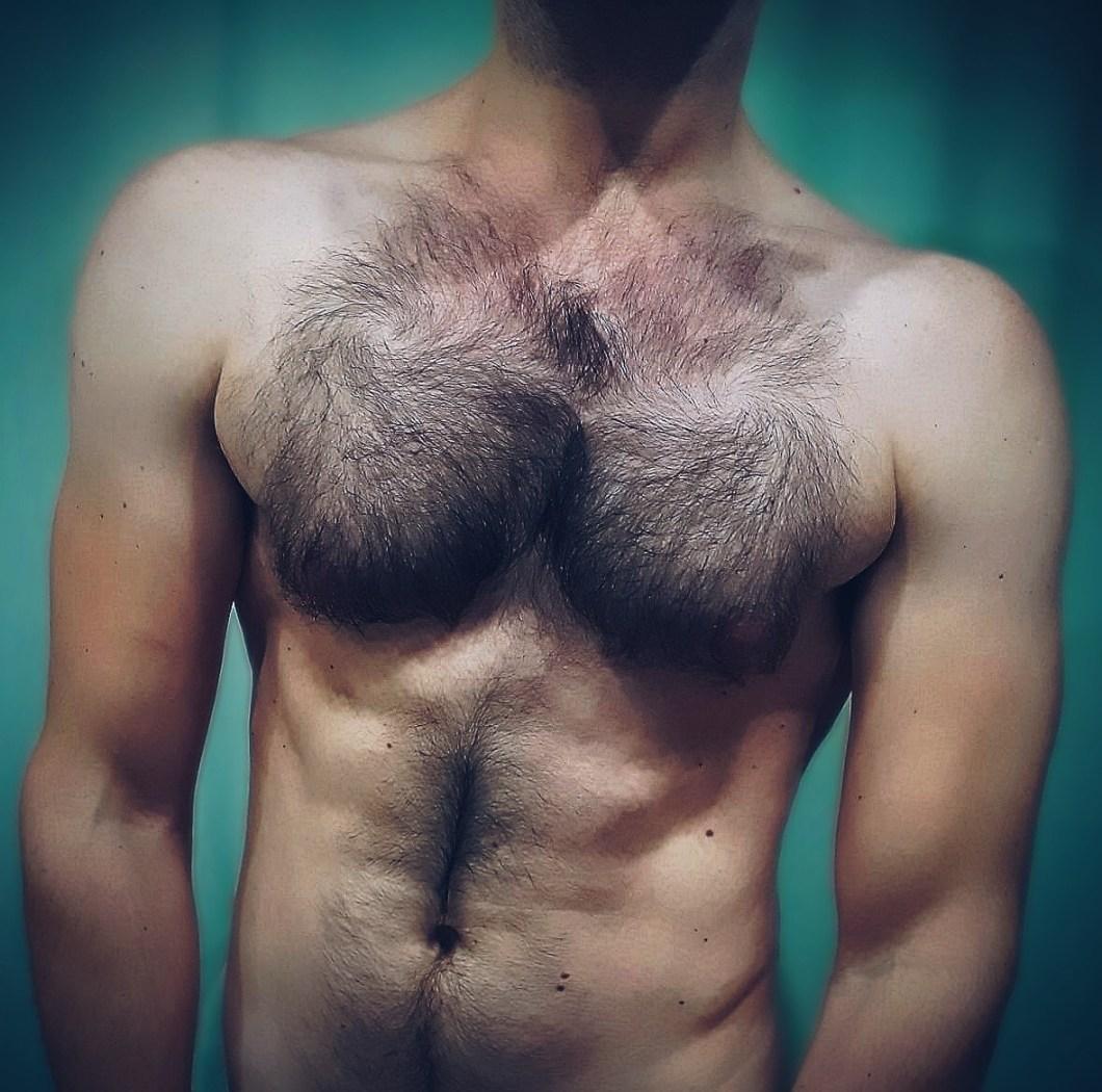 A young man's torso