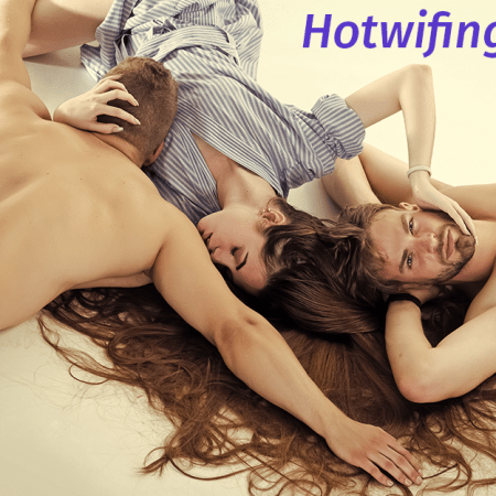 two men and a woman lying down representing hotwifing from hotwifing.co.uk