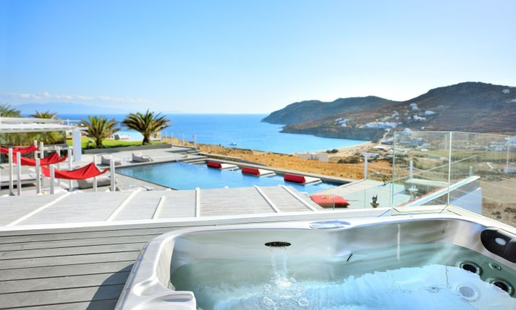 Image of pool.at swingers in mykonos holiday villa
