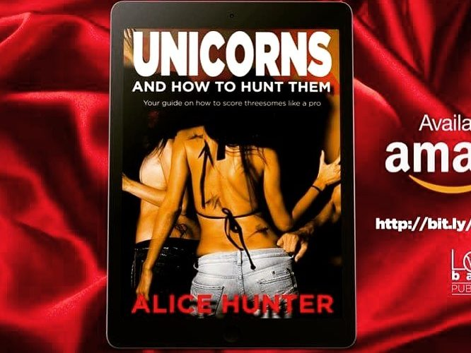 unicorns and how to hunt them kindle book image.  Too adult not to be hit by the censor.  Moving to OnlyFans