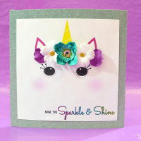 Glitter Unicorn Mother's Day Card Craft