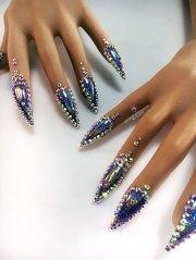 glitter holo nail gloves unicorns