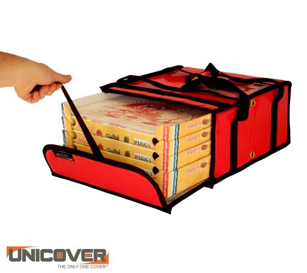 Borsa termica porta pizza 3/4 cartoni rossa