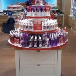 Universal Custom Display UCD Retail Bath And Body Works Lotions On Round Display Rack