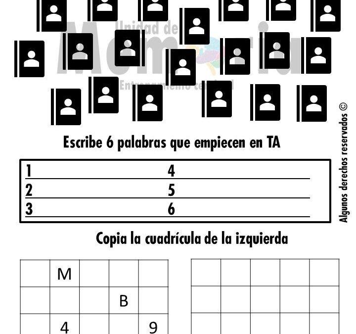 Ficha de Estimulación Cognitiva nº 1