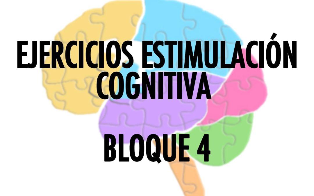 Soluciones Ejercicios Cognitivos bloque 4