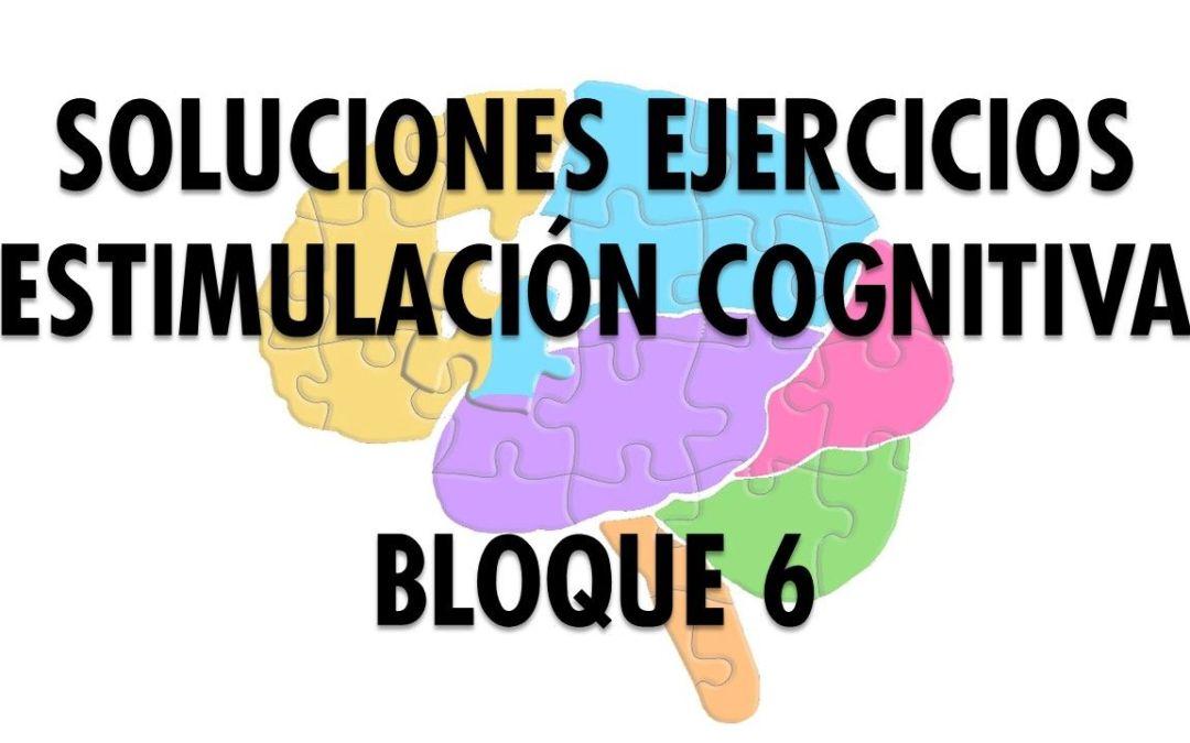 Soluciones Ejercicios Cognitivos bloque 6