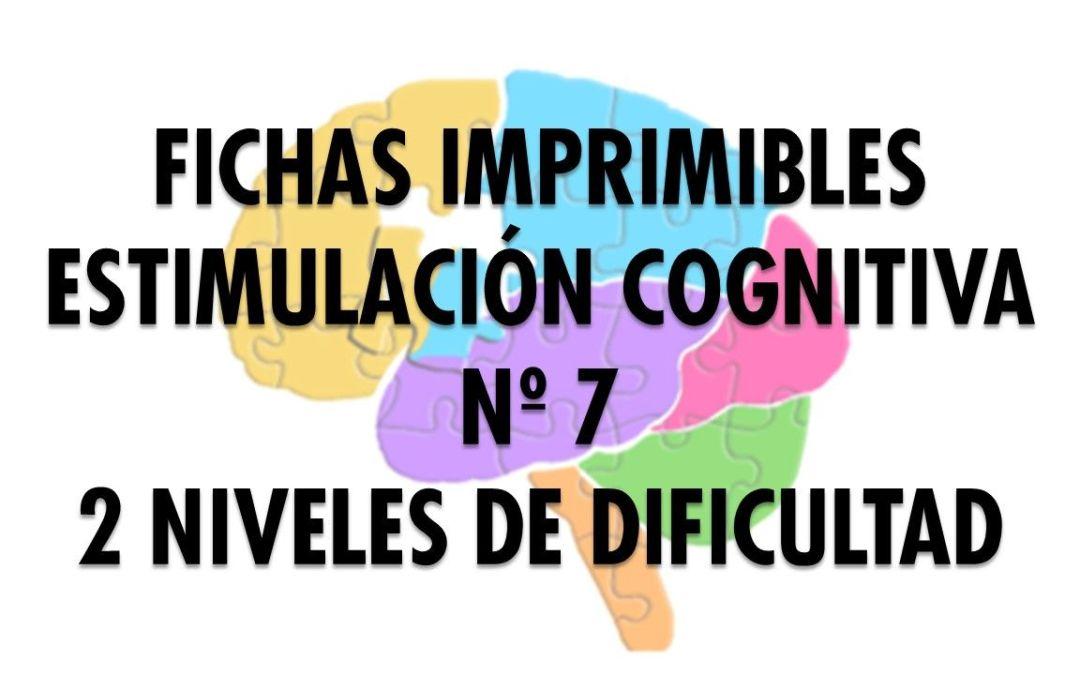 Ficha Estimulación Cognitiva nº 7