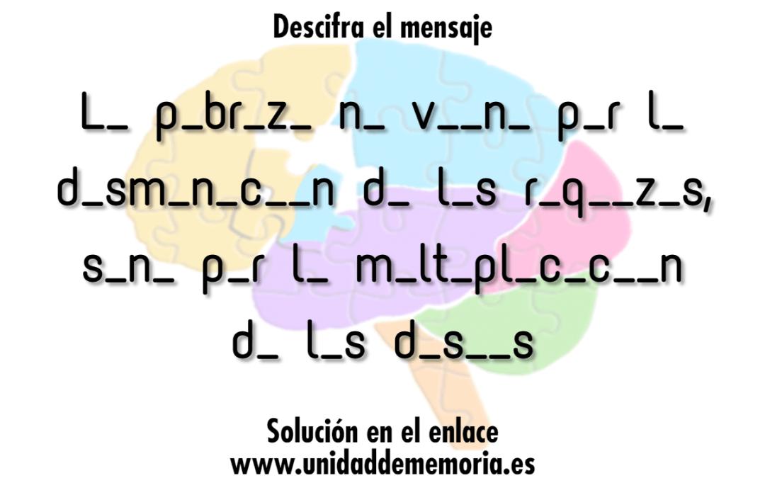 Descifra el mensaje 1er ejercicio de la rutina del 8 de abril de 2021
