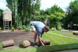 aanleg van graszoden