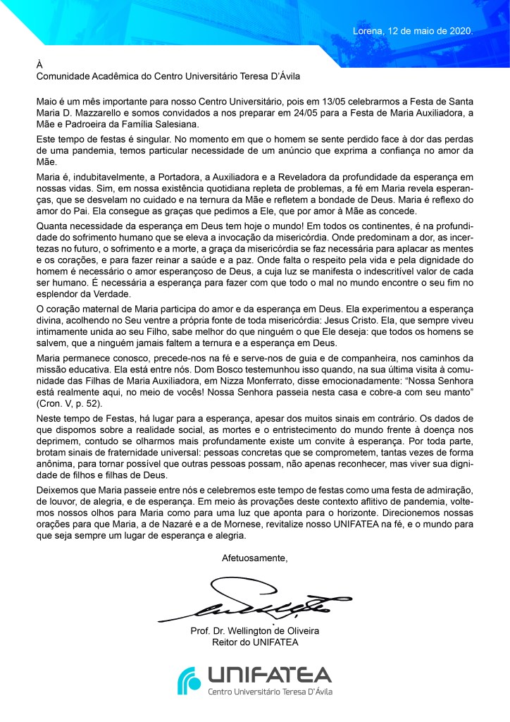Carta a Comunidade Corrigida