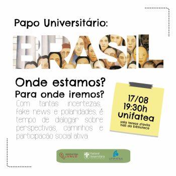 Observatório Juventudes convida para roda de conversa sobre o Brasil