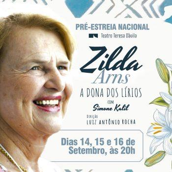 Teatro Teresa D'Ávila recebe peça Zilda Arns – A Dona dos Lírios