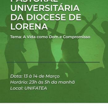 Vigília Pastoral Universitária da Diocese de Lorena reunirá jovens da região