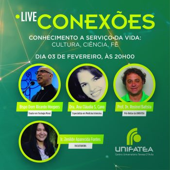 Live Conexões: Um debate acerca da fé, da cultura e da ciência