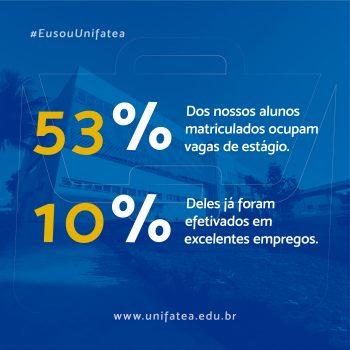 UNIFATEA apresenta um elevado número de alunos realizando estágio nas melhores empresas da região