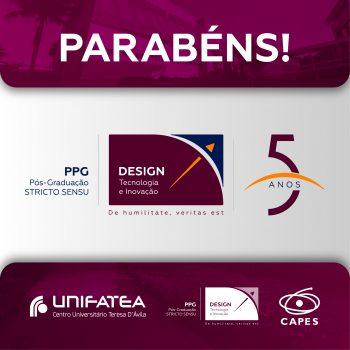 Programa de Pós-Graduação em Design, Tecnologia e Inovação do UNIFATEA completa 5 anos