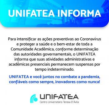 UNIFATEA e você juntos no combate a pandemia