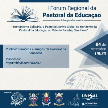 I Fórum Regional da Pastoral da Educação