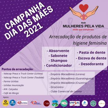 """Participe da campanha """"Rede Mulheres Pela Vida"""" e ajude a vida de muitas mulheres que vivem no Vale do Paraíba"""