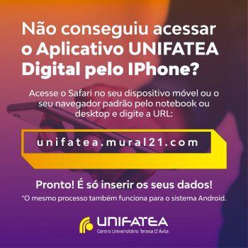 Já instalou o UNIFATEA Digital no seu celular?