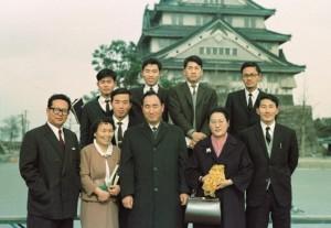 大阪城内にて(65年2月3日)