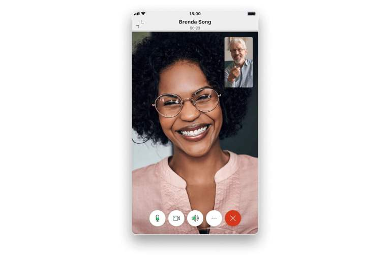 Instantly place an audio or video call